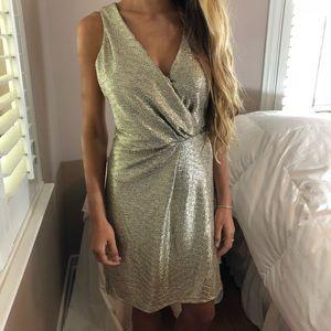 LAST ONE Spring Wedding Deifik Metallic Gold Dress